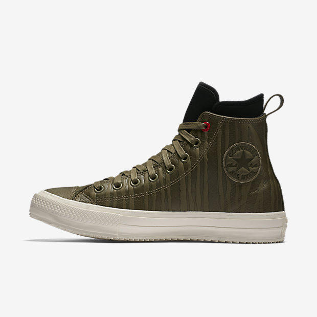 Converse Mens Chuck Taylor All Star Lion Fish Waterproof High Tops (Medium Olive)