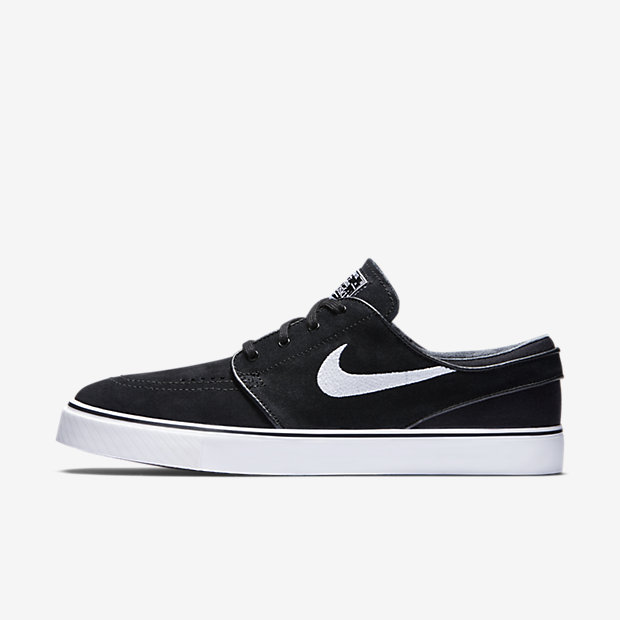 Nike SB Zoom Stefan Janoski Boys Skateboarding Shoes Black/Brown/White sP5663R