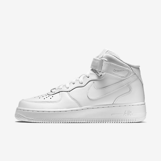 nike air force 1 metà 2007 donne bianche modello aviation