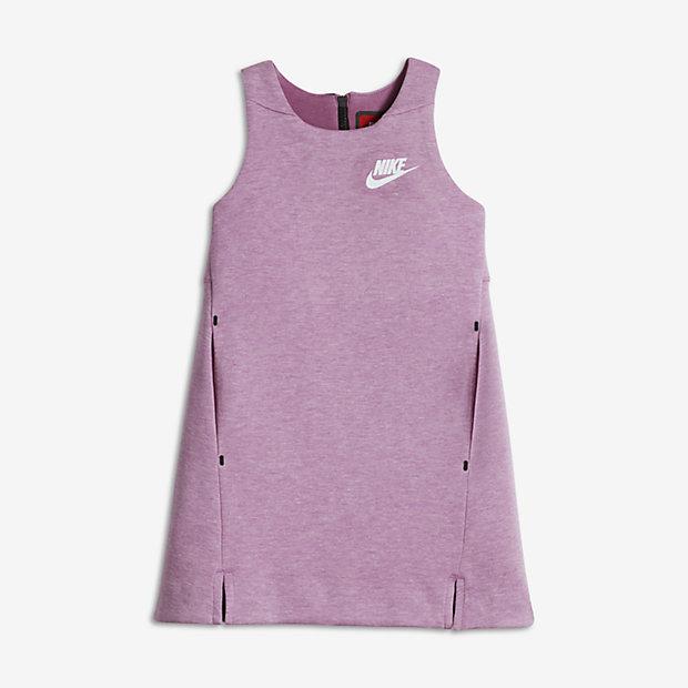 Nike Sportswear Tech Fleece Big Kids' Dresses Orchid/Heather/White