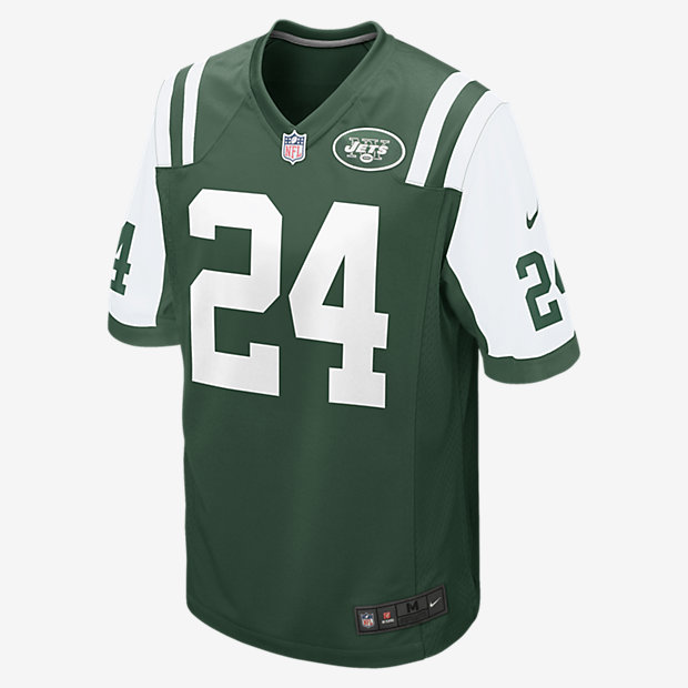 Low Resolution Ανδρική φανέλα αμερικανικού ποδοσφαίρου NFL New York Jets (Darrelle Revis) Home