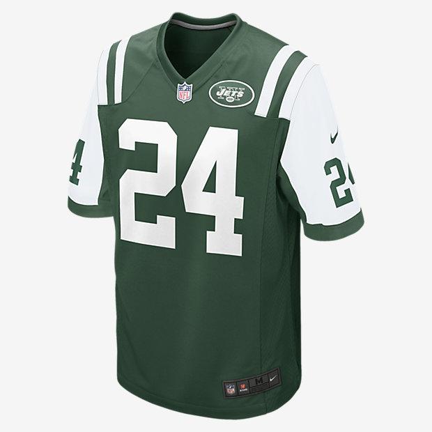Low Resolution Męska domowa koszulka meczowa do futbolu amerykańskiego NFL New York Jets (Darrelle Revis)
