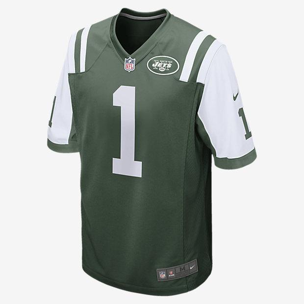 c4af641ce58a3 ... Camiseta de fútbol americano para hombre juego de la NFL de los New  York Jets