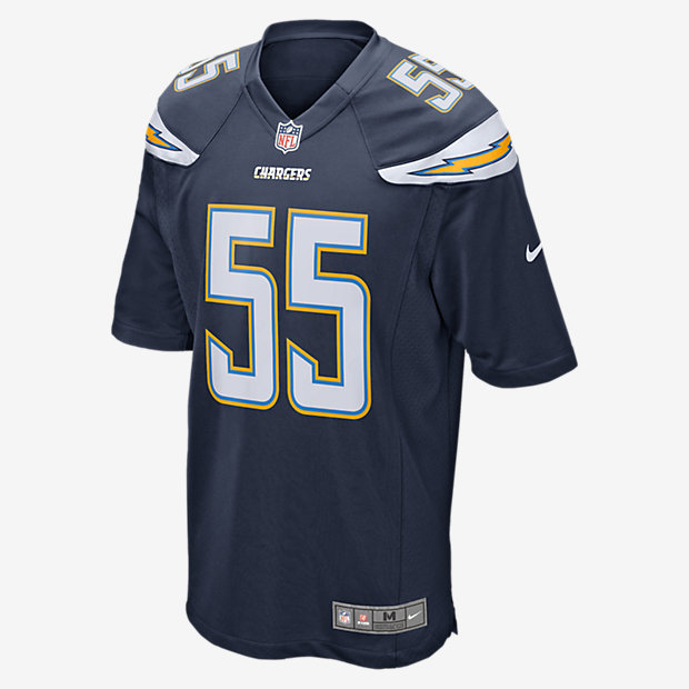 18e913a2f21 NFL Los Angeles Chargers (Junior Seau) Men's Football Home Game ...