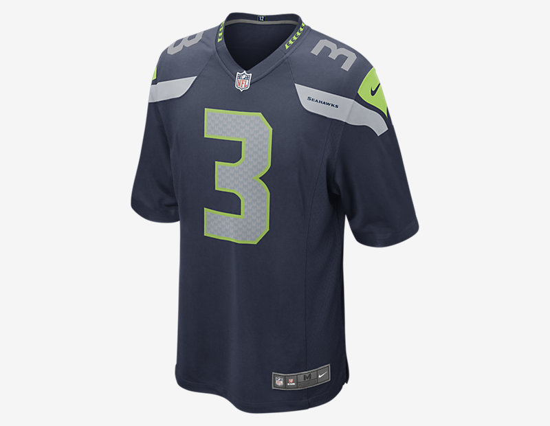 NFL Seattle Seahawks Game Jersey (Russell Wilson)