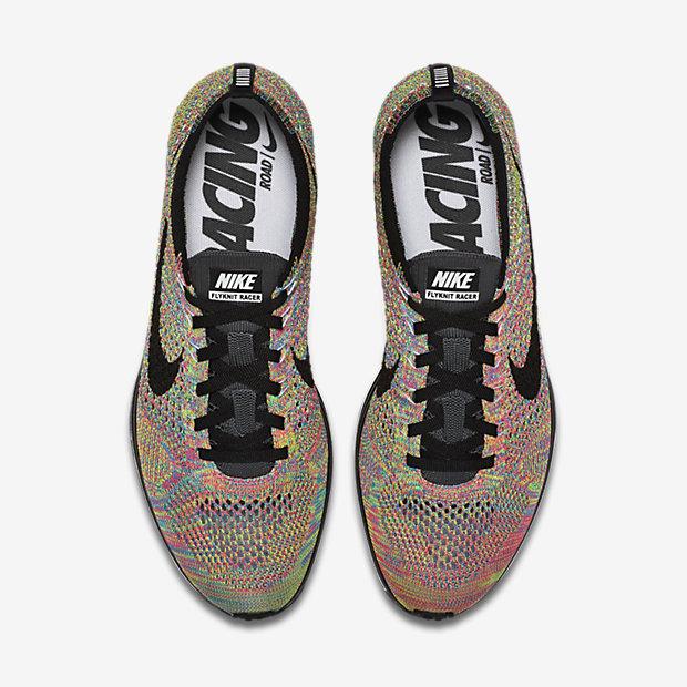 Nike Racer Flyknit Black White