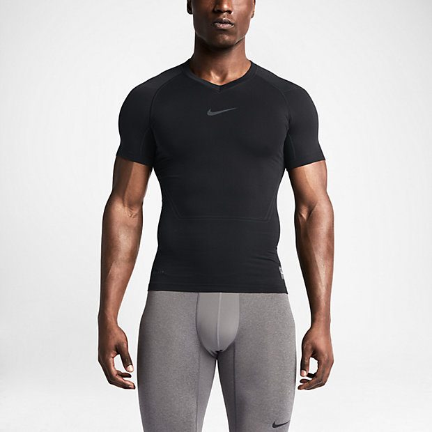 Low Resolution Nike Pro Combat Lightweight Seamless男子短袖针织衫