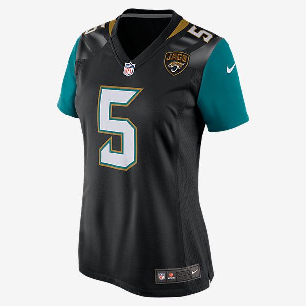 8160b811730e2 ... NFL Jacksonville Jaguars (Blake Bortles) Camiseta de fútbol americano  de 1ª equipación - Mujer