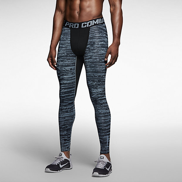 Low Resolution Nike Pro Combat Hyperwarm Compression Hypercamo 男子弹力长裤