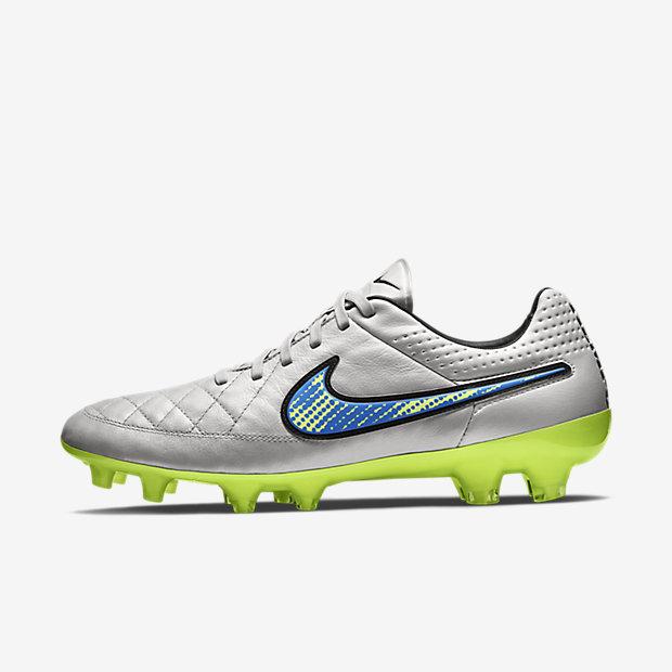 Nike Scarpe Calcio Football Tiempo Bianco Firm Ground FG