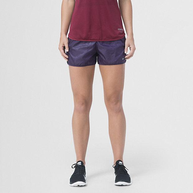 Low Resolution Gyakusou Embossed Woven 女子跑步短裤