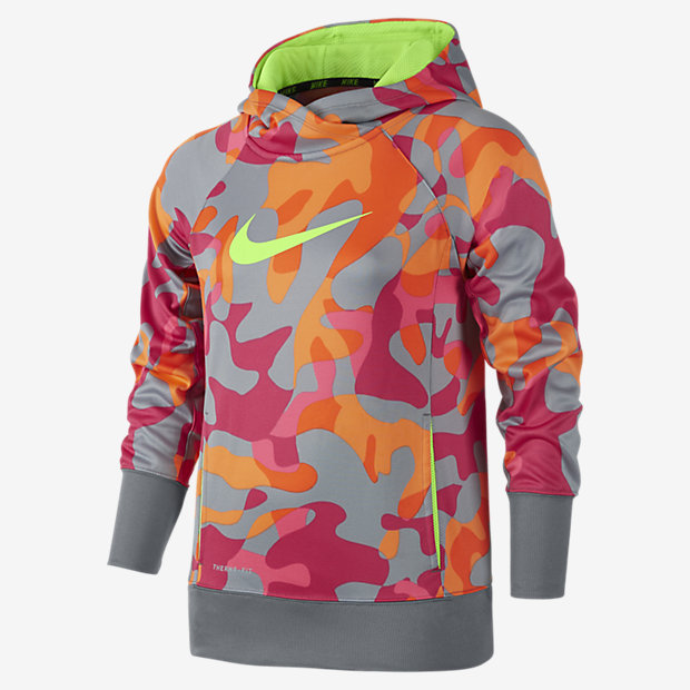 Nike KO 3.0 Allover Print Pullover Girls' Training Hoodie. Nike.com