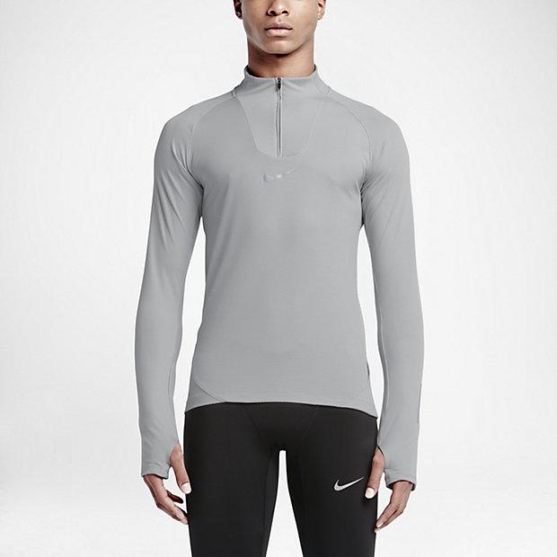 Nike Womens Running Shirt - Nike AeroReact Wolf Grey M67v1054
