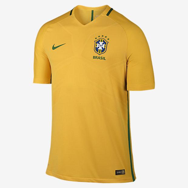 5e3bbddb25f9 2016 Brazil CBF Match Home Men s Football Shirt. Nike.com UK
