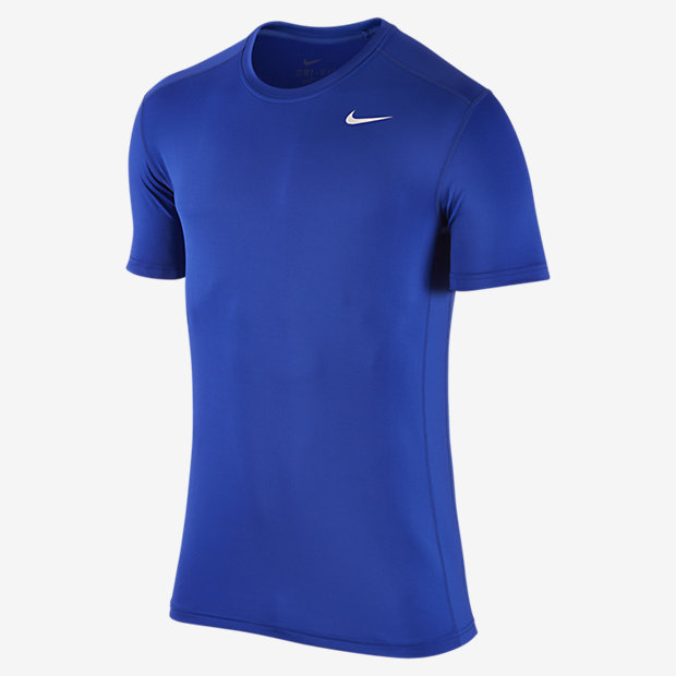 Men/'s Nike Pro Dri-Fit FITTED Short Sleeve Athletic Training Shirt
