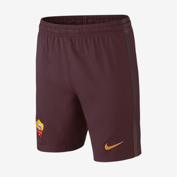new style 28256 ab0bb Older Kids Football Shorts. 201617 A.S. Roma Stadium HomeAwayThird