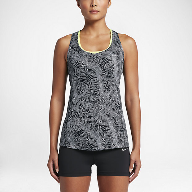 Low Resolution Nike Dry Miler Women's Printed Running Tank