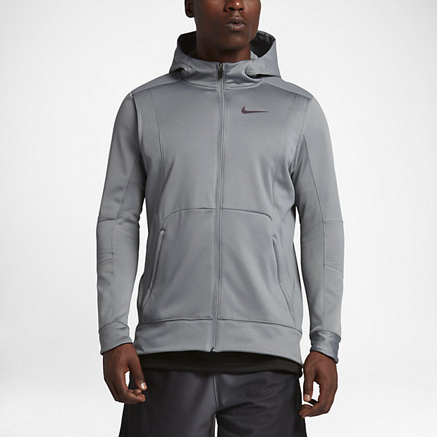 Nike Therma Hyper Elite Men's Basketball Hoodies Cool Grey