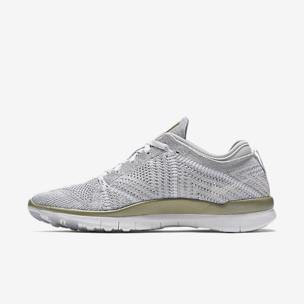Nike Free Flyknit TR 5.0 Women's Training Shoes Pure Platinum/metallic Gold