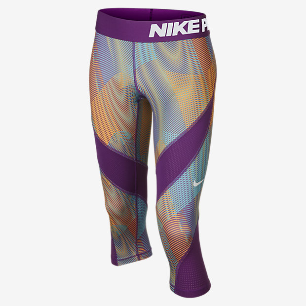 Low Resolution Nike Pro Hypercool Printed 女孩训练中长裤