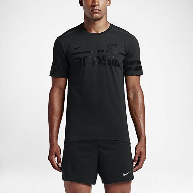 Nike Dry Team Brazil  Short Sleeve Running Top