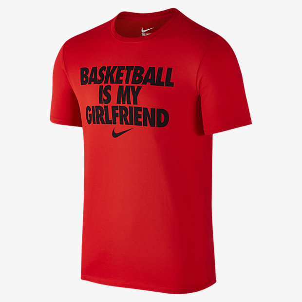 "Low Resolution Nike ""Basketball Is My Girlfriend"" 男子T恤"