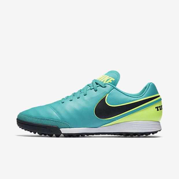 Low Resolution Nike Tiempo Genio II Leather TF 传奇系列男子人造场地足球鞋