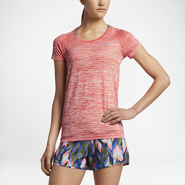 90f6553168 Top de running de manga corta para mujer Nike Dri-FIT Knit. Nike.com MX