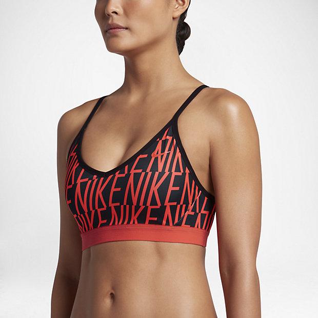 Low Resolution Nike Indy Block Logo 女子轻度支撑运动内衣