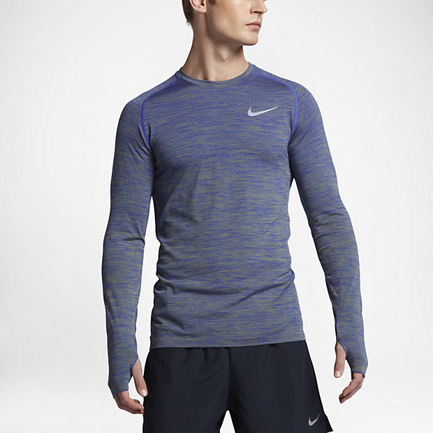 04062938 Nike Dri-FIT Knit Men's Long-Sleeve Running Top. Nike.com AU