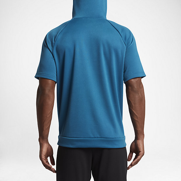 Nike Dry Men's Short Sleeve Training Hoodie. Nike.com