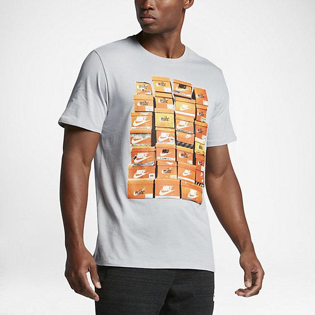 メンズ NIKE ビンテージ ナイキ ブラック Tシャツ Nike Mens Vintage Shoebox T-Shirt Black シューボックス Tシャツ