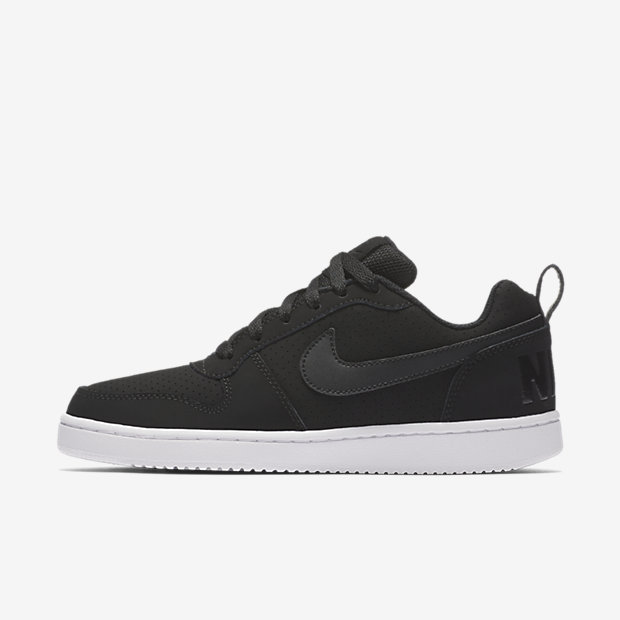 nike court borough low black