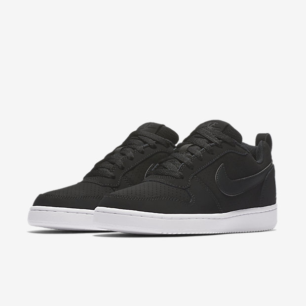 Schuhe NIKE - Court Borough Low 844905 001 Black/Black/White vTtwc