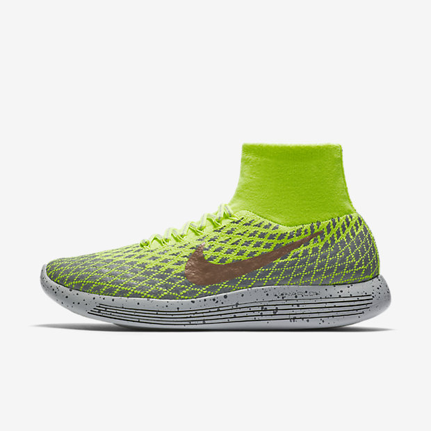 Nike LunarEpic Flyknit Shield Women's Running Shoes Green/Grey/Red nD2872F