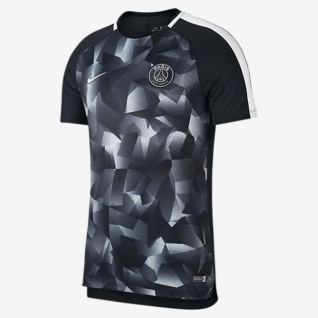 パリ サンジェルマン ドライ スクワッド メンズ ショートスリーブ サッカートップ