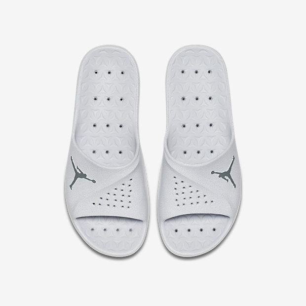 Nike Mens Slide - Nike Jordan Super.Fly Team Pure Platinum/Cool Grey/Black S44g9540