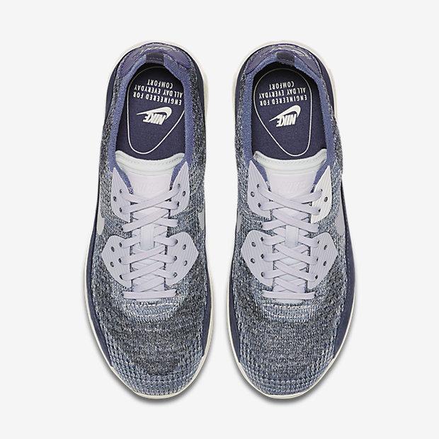 Nike Femme Air Max 90 Ultra 2.0 FK Flyknit Pncl Bleu Femme
