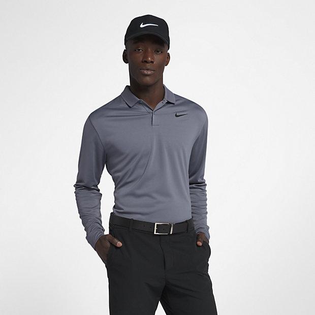 nike victory langarm golf poloshirt in standardpassform f r herren ch. Black Bedroom Furniture Sets. Home Design Ideas