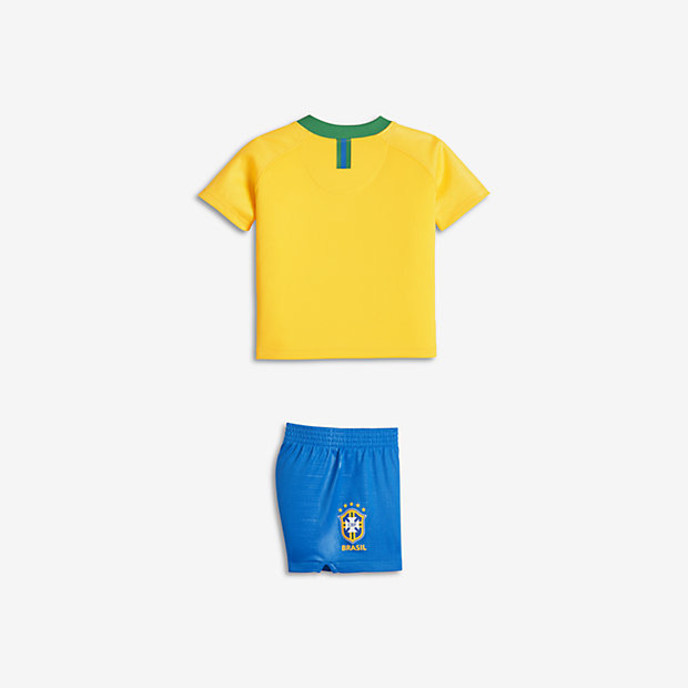 Brazil Cbf Stadium Home Baby Toddler Football Kit
