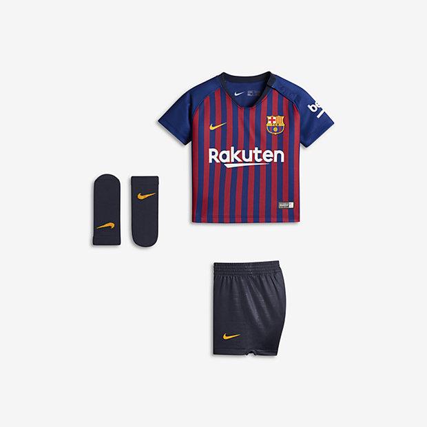 e98855c23c Equipamento de futebol 2018 19 FC Barcelona Stadium Home para bebé.  Nike.com PT