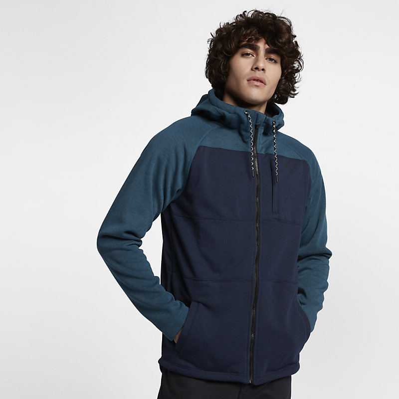 Hurley Therma Protect Plus Zip Space Blue Male Herre > Nyheter S| M| L| XL