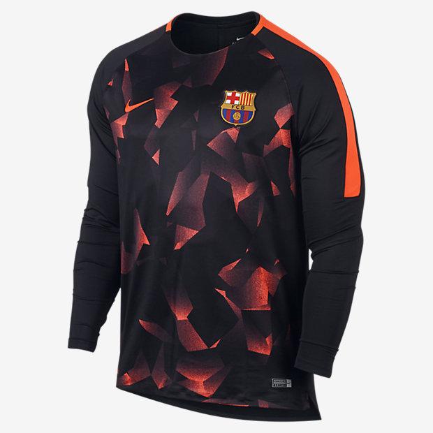 FC バルセロナ ドライ スクワッド メンズ ロングスリーブ サッカートップ