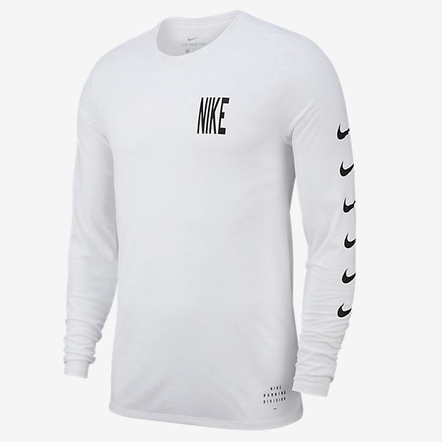 Low Resolution Nike Dri-FIT Men's Long-Sleeve Running T-Shirt