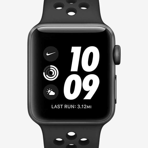 Apple Watch Nike+ Series 3 (GPS) 38 mm Laufuhr