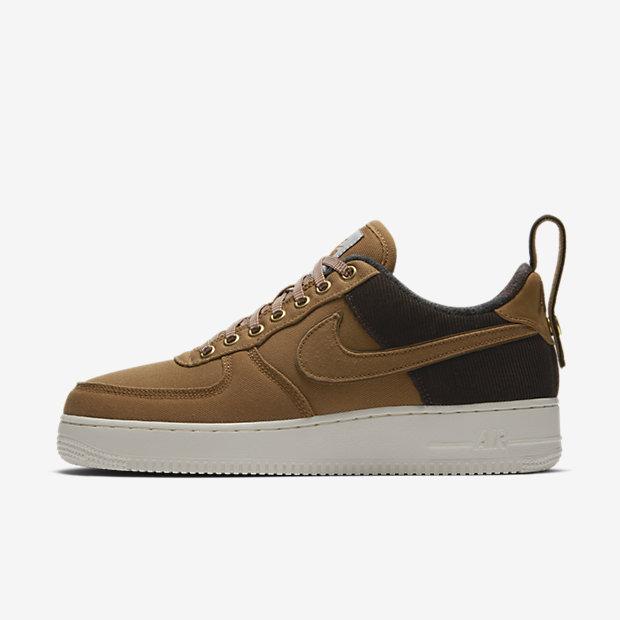 Мужские кроссовки Nike x Carhartt WIP Air Force 1, Коричневый эль/Парус/Коричневый эль, Артикул: AV4113-200  - купить со скидкой