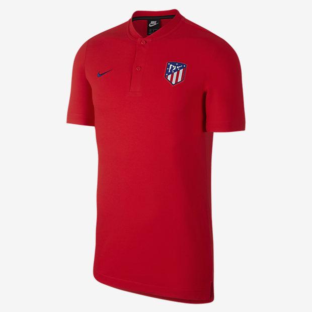 Low Resolution Polo de futebol Atlético de Madrid para homem
