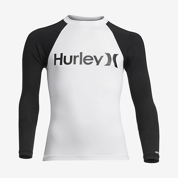 Nike Hurley One And Only Long-Sleeve Rashguard Boys White