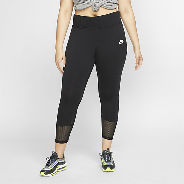 Dámské síťovinové legíny Nike Sportswear (větší velikost)