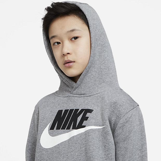 Nike Sportswear Club Fleece Older Kids' Pullover Hoodie. Nike CA